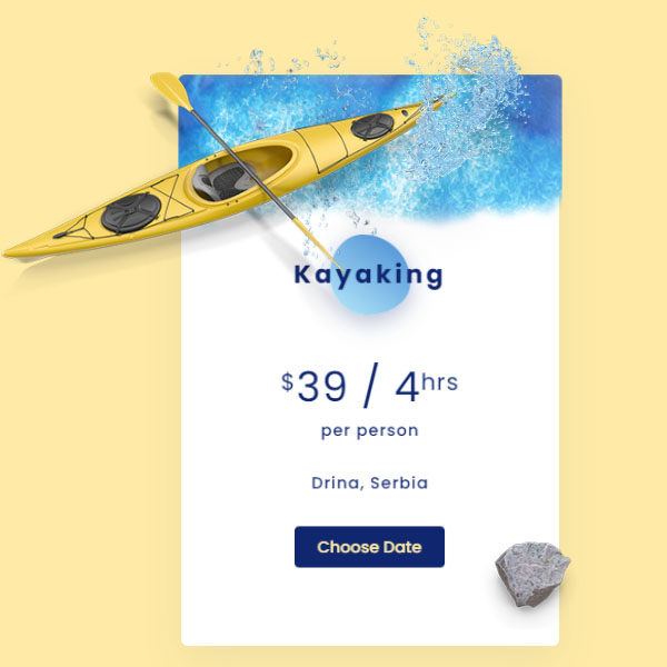 Camping and Kayaking Pricing Plan with Bootstrap