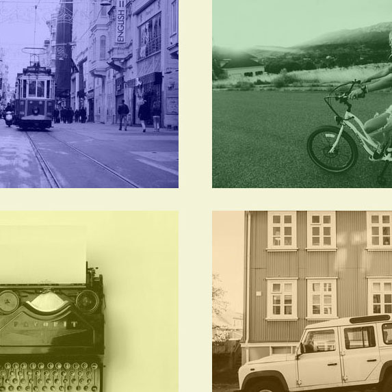 Pure CSS Picture Grid Color Overlay Zoom on Hover