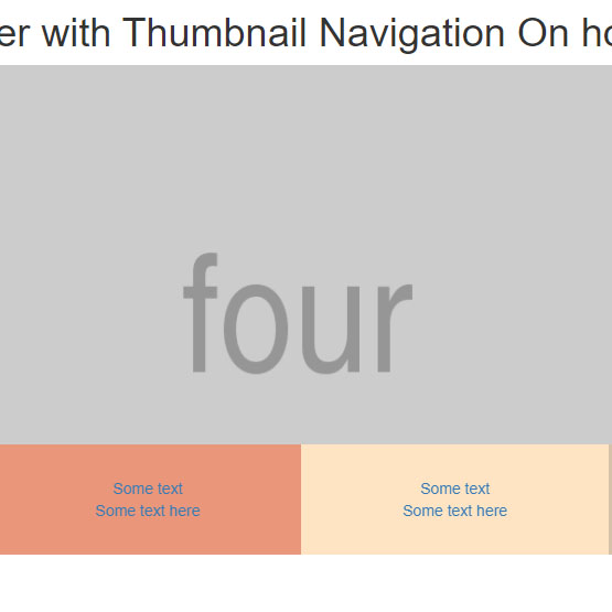 Slider with Thumbnail Navigation On hover