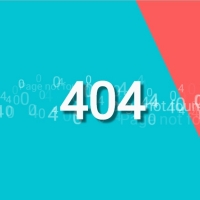 Dynamic matrix moving effect for 404 not found page.