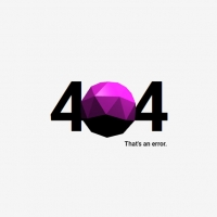 We have a beautiful 404 page in which the word 404 is written, and instead of zero, a purple sphere is rotated in 3D animation.