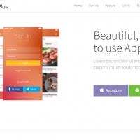 App-plus is a landing page for your mobile application designed in one-page.