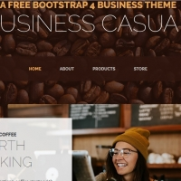 Light template for creating a website for your business.