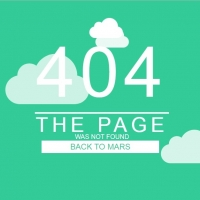 404 not found page in sky with moving clouds.