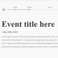 Reporting events in a timeline format.