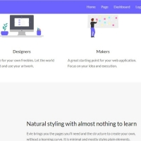 Evie is a multipurpose template by using minimal CSS styles.