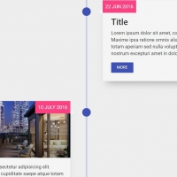 Timeline cards with float-in effect while scrolling