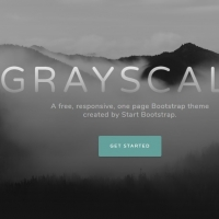 Grayscale template for the websites homepages with various sections.