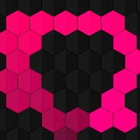We have a hexagonal background. With the movement of the mouse, these hexagons become colored and after a short time, they turn gray again.