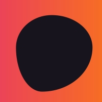 In this background code, we have a gradient with pink and orange colors. A black shape is also constantly moving in the middle of the screen.