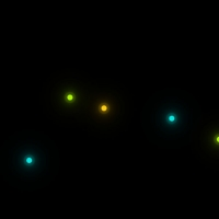 The light dots in this code are moving on a black background. The colors of these dots are different and not the same. In addition, while moving, the . . .