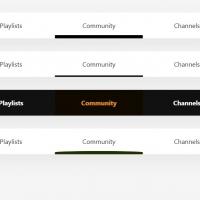 Various types of navigation menu bars with underline effect.