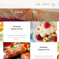 A beautiful theme for designing websites for restaurants with beautiful effects.