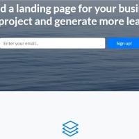 Landing page template for creating a page for your business or project.