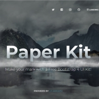 Paper Kit is a template with various HTML web page elements.