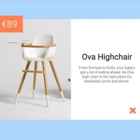 Popup modal form for previewing products, their prices and descriptions