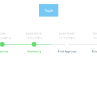 Timeline template for creating a progress bar with toggle button.