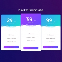 Pure CSS Pricing Table