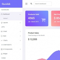 Quixlab is a professional admin dashboard with lots of pages and features.
