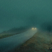 In this code we have a background that shows a rainy road. The road is fixed in this code, but the rain runs animated.