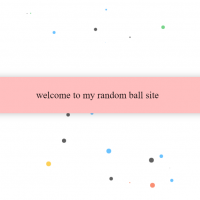 A large number of small colored balls in the background that are constantly moving are used as animations to make the background more attractive.
