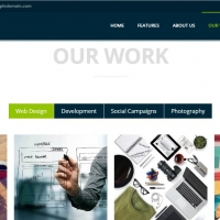 Responsive template for your site with one page and beautiful features.