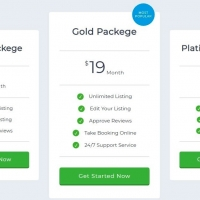 Responsive pricing plans with zooming effect.