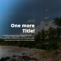 A responsive timeline slider with transition effects.