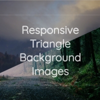 A script to use two images in the web page background in responsive triangular form.