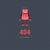 A beautiful 404 screen in which a permanent robot moves its arms and legs and creates a beautiful animation mode.