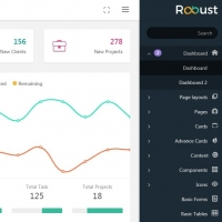 Robust is an admin template both with rtl and ltr options and lots of features
