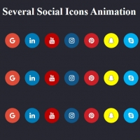 The following code is three beautiful animations for Hover mode on social networks. These codes show the animation of shrinking, icon rotation and falling, . . .