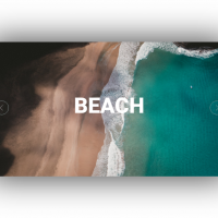 An slider with interesting transition effect and text on the images.
