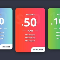 A beautiful stylish pricing table with button effect.